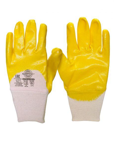 Перчатки «Зодиак-НИТРИЛ-ЛАЙТ» желтые с частичным обливом ЦЕНА: 84.00