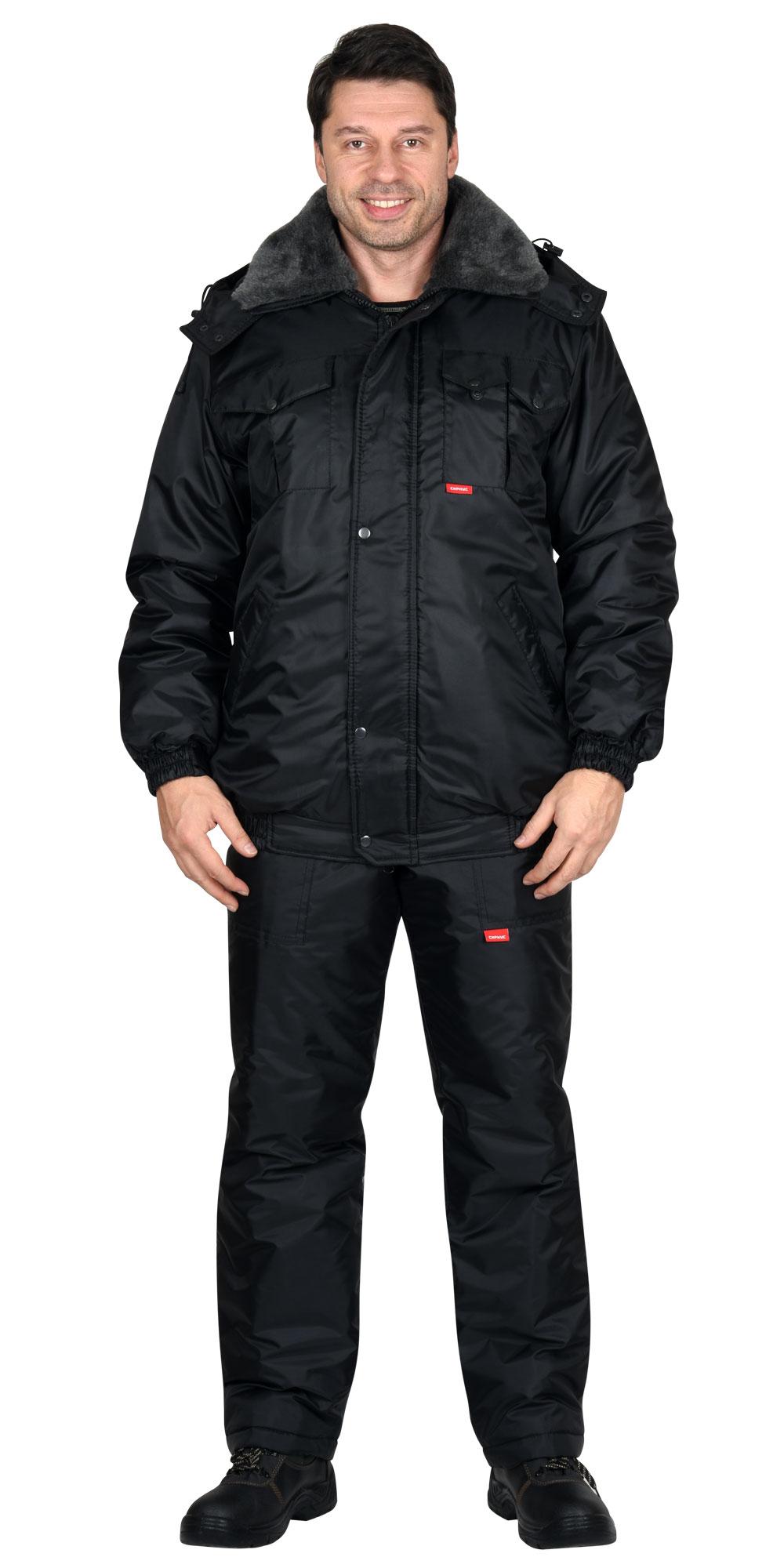 Куртка «Охрана» утеплённая черная ЦЕНА: 1730.00