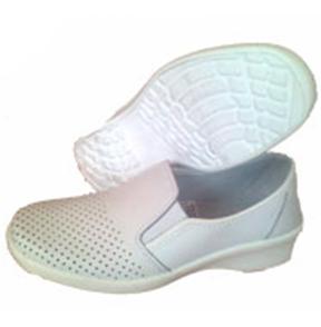 Туфли женские кожаные с перфорацией  (подошва ПУ)